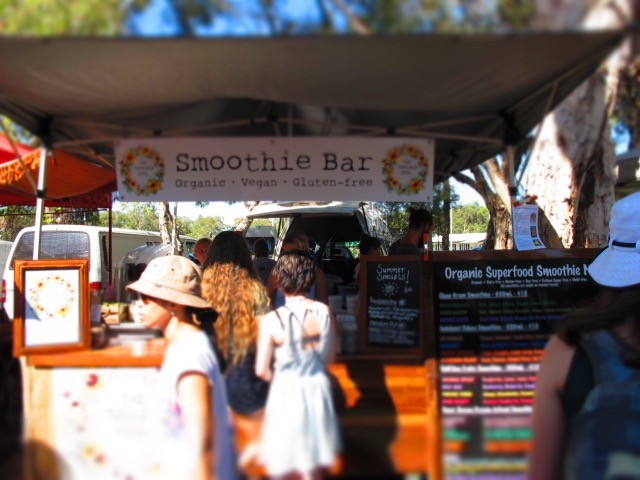 Sunday Morning Breakfast Smoothie at the Noosa Farmers' Market