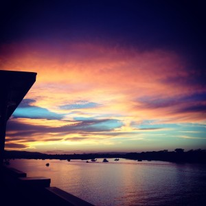 Sunset vista from The Noosa Boathouse