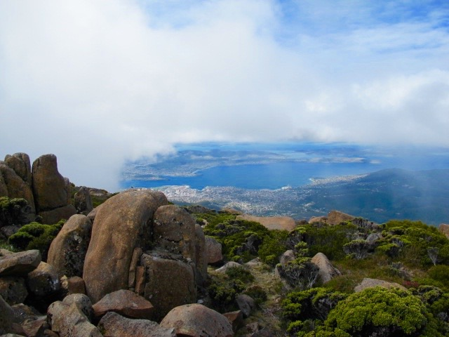 The clouds rolling in on Mount Wellington