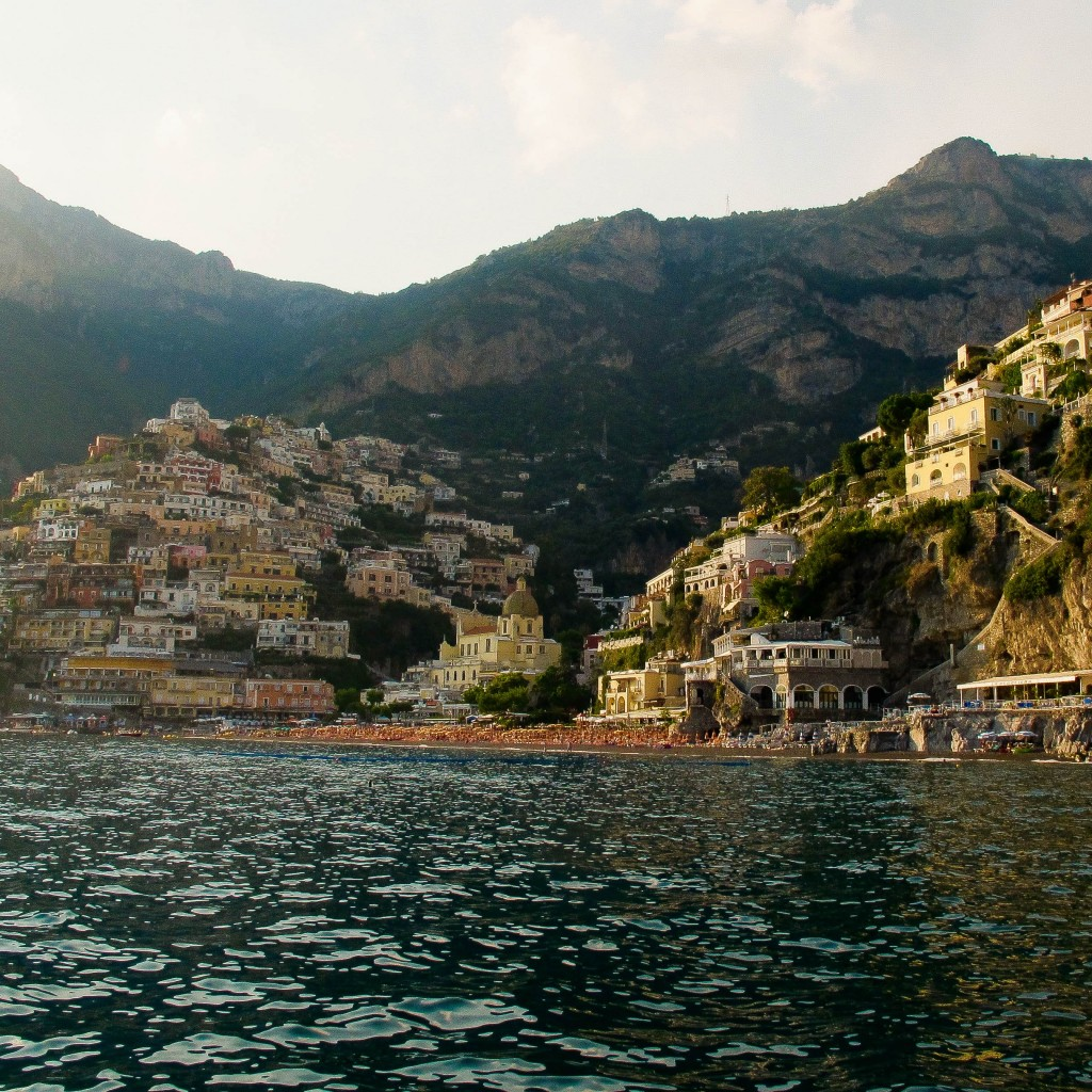 Arriving back in Positano