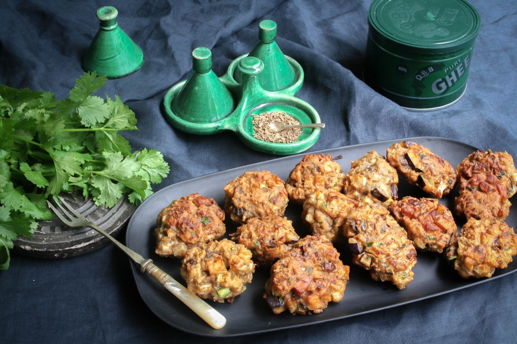 Pakoras with Yoghurt and Cumin Dressing