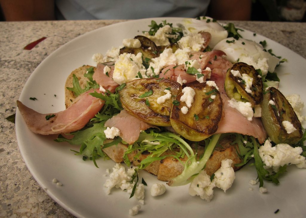 Town Café Bangalow Ham and Green Tomatoes