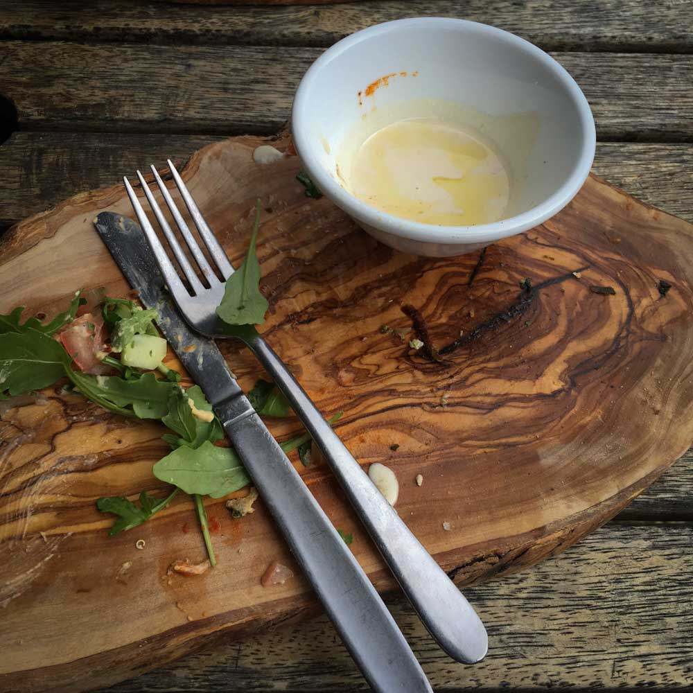 Luscious Foods Byron Bay Empty Plate