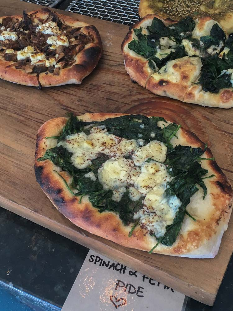Luscious Foods Byron Bay Spinach and Feta Pide