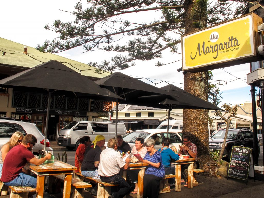 The lunchtime crowd at Miss Margarita Byron Bay