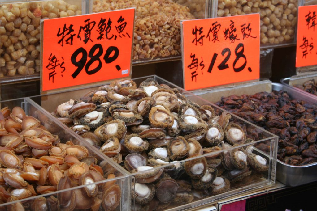 Dried Abalone and Oysters