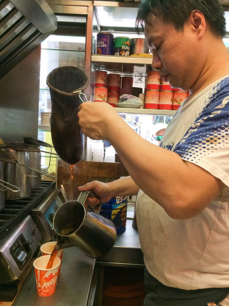 Pouring Milk Tea - Lan Fong Yuen