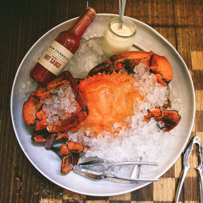Chilled mud crab recipe balcony bar oyster co get for Balcony byron bay menu