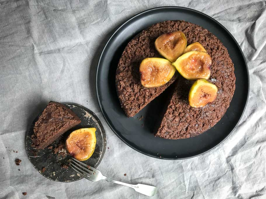 Chocolate and Almond Torte Top Down