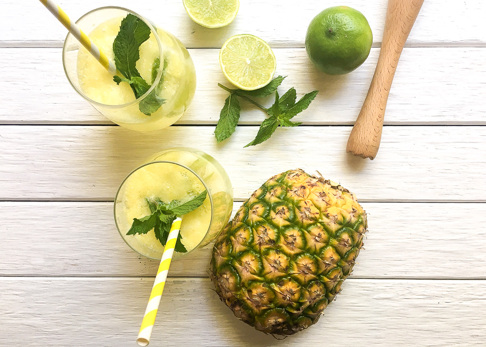 Pineapple Ginger and Mint Mojito Ingredients