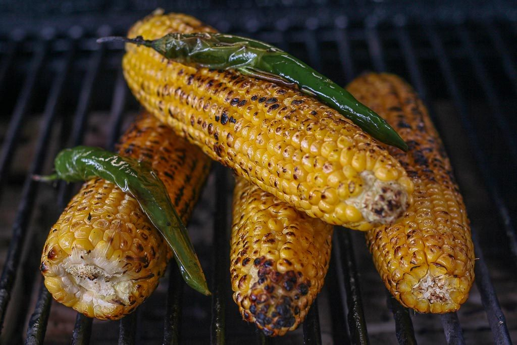 Grilled Corn on the barbecue