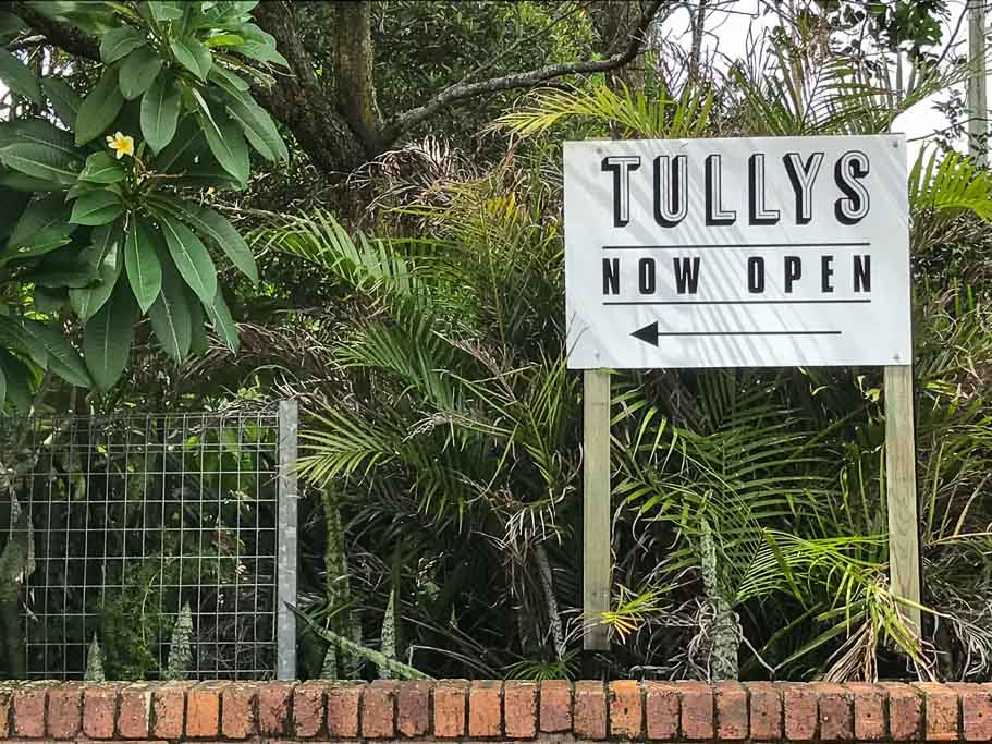 Tullys Suffolk Park Sign