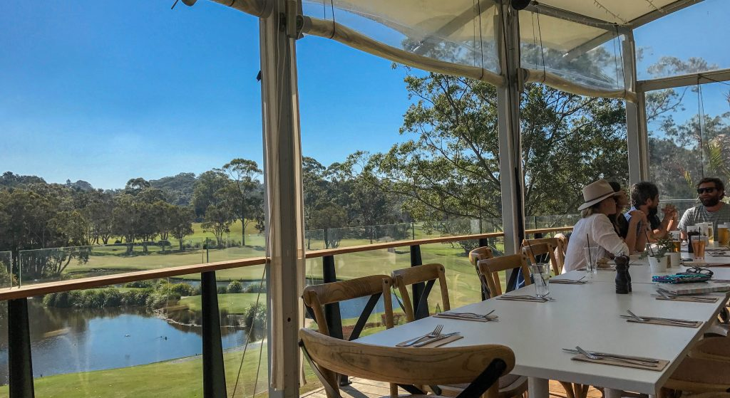 100 Mile table Byron Bay Golf Club Deck