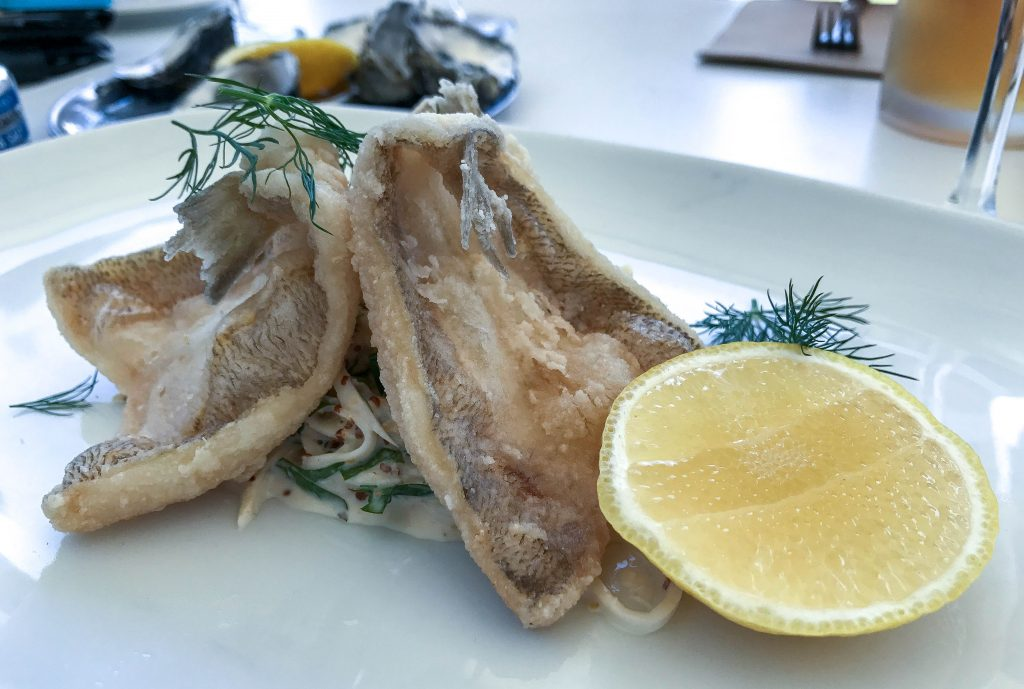 Fried whiting fillets with celeriac remoulade