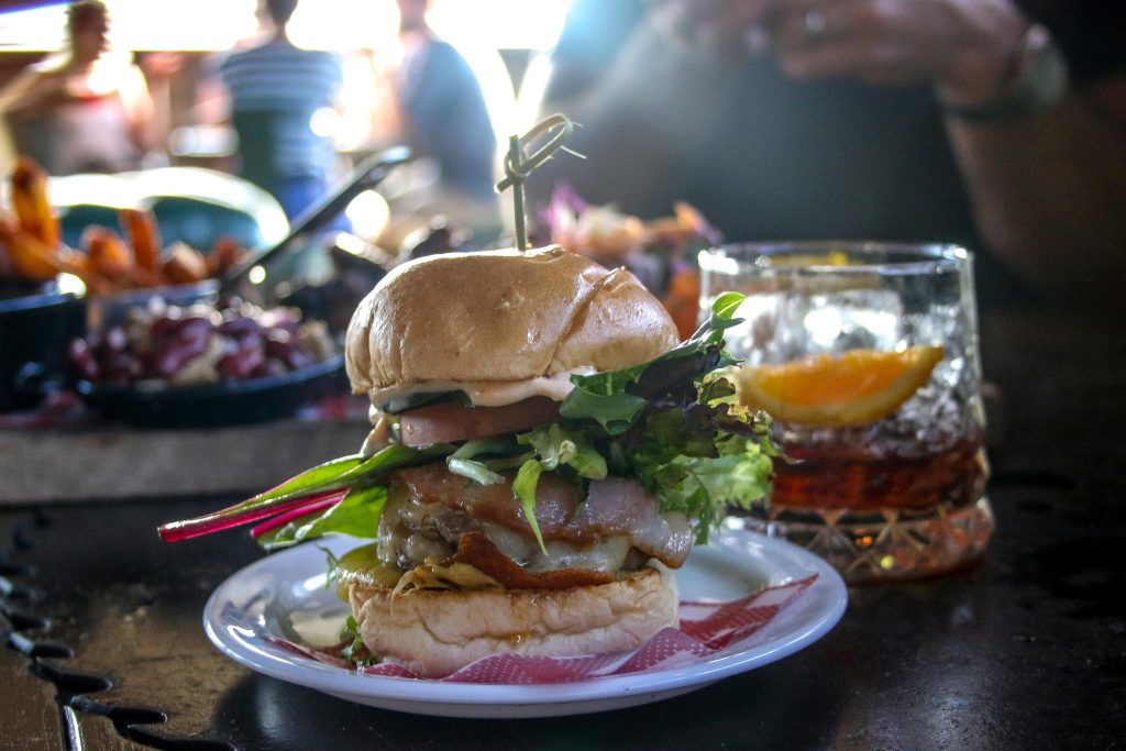 The Cheesy American Slider at The Bolt Hole in Byron Bay