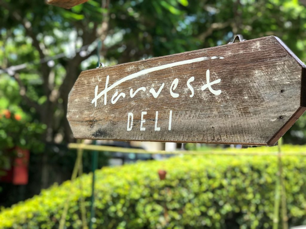 Harvest Deli in Newrybar Sign