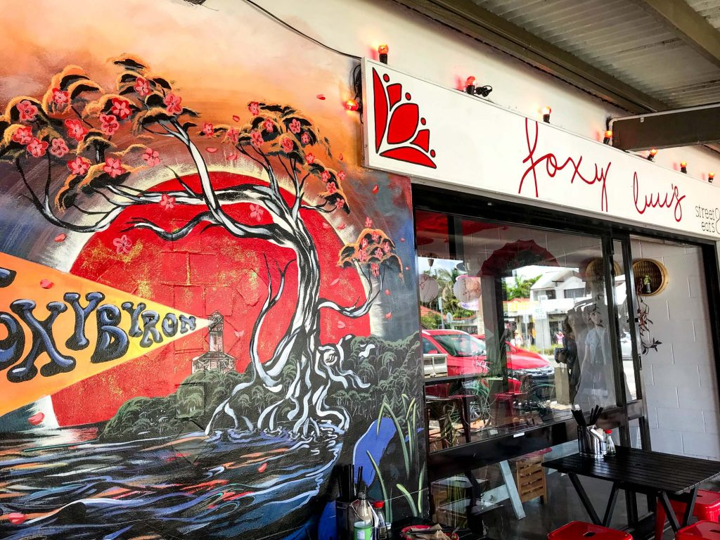 Foxy Luu's in Byron Bay Outside