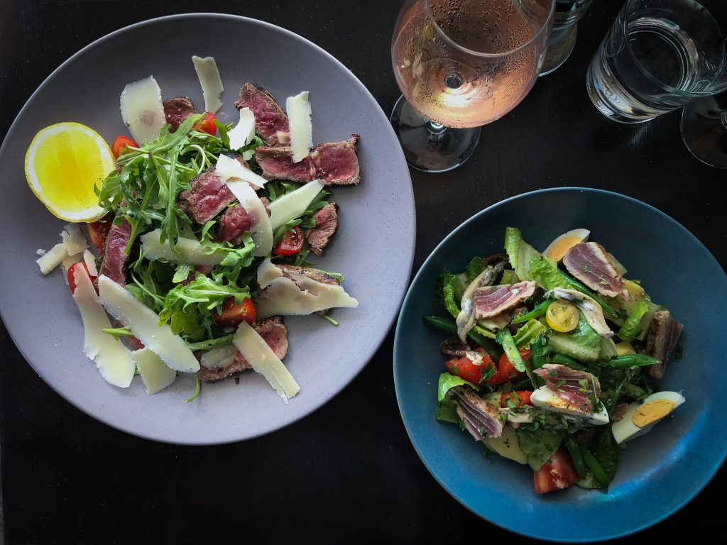 Beef Tagliata and Nicoise Salad at Targa in Byron Bay