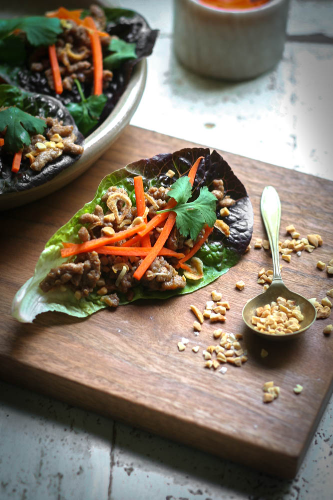 San Choy Bau Recipe with Peanuts