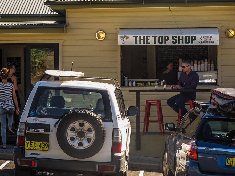 The Top Shop Byron Bay Coffee Window