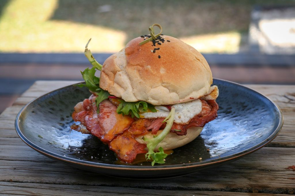 Spoke Coffee Brewers, Byron Bay - Bacon and Egg Roll