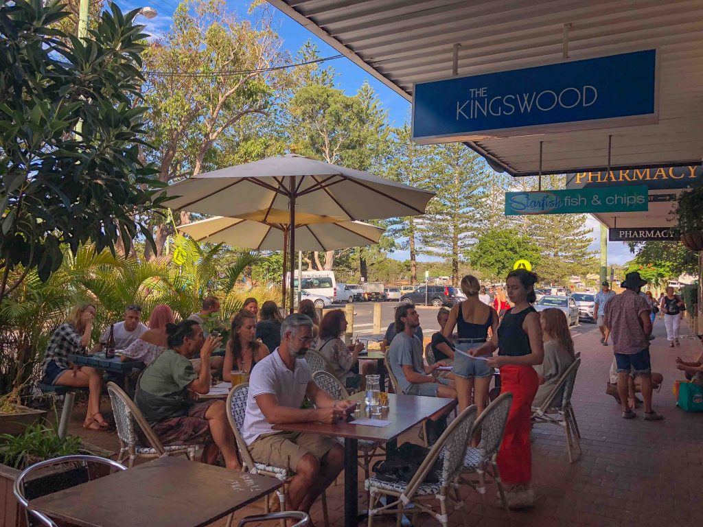 Outside The Kingswood restaurant in Brunswick Heads