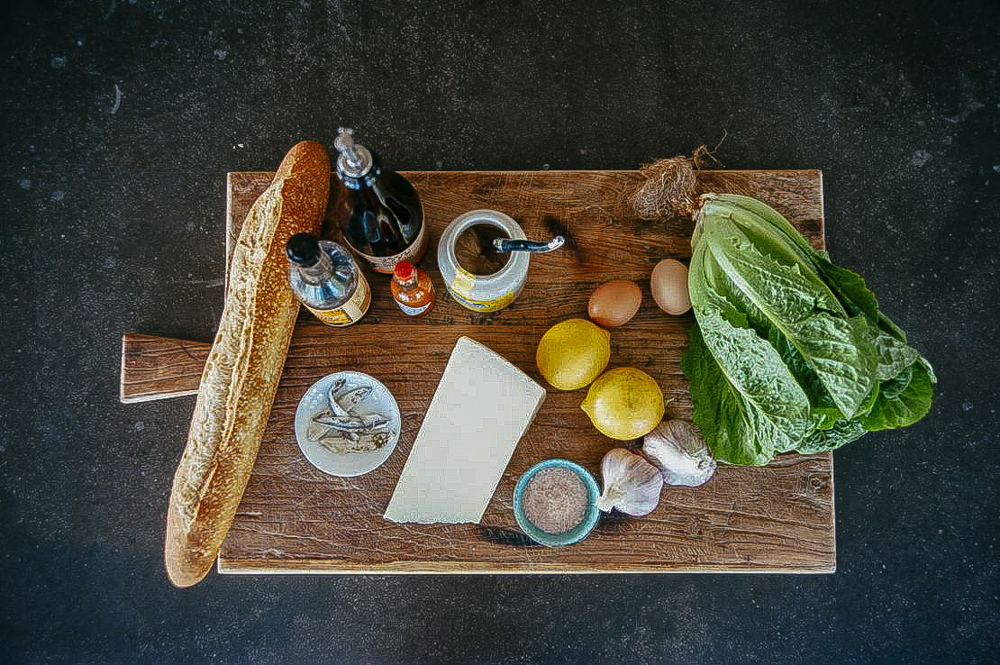 Ingredients for The Classic Caesar salad Recipe