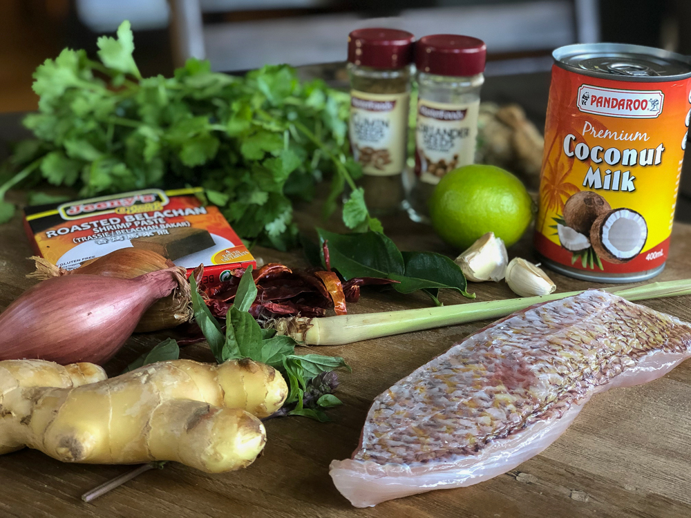 Red Snapper Curry Ingredients
