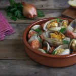 bowl of chorizo and clams